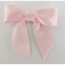 16mm Double Faced Satin Ribbon Bow Colour: Baby Pink.