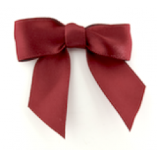 16mm Double Faced Satin Ribbon Bow Colour: Burgundy.