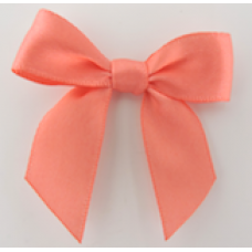 16mm Double Faced Satin Ribbon Bow Colour: Coral