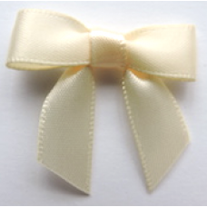 16mm Double Faced Satin Ribbon Bow Colour: Cream