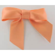 16mm Double Faced Satin Ribbon Bow Colour: Dark Peach