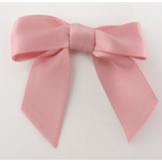 16mm Double Faced Satin Ribbon Bow Colour: Dark Pink