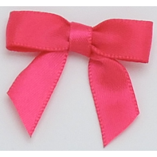 16mm Double Faced Satin Ribbon Bow Colour: Fuchsia Pink