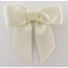 16mm Double Faced Satin Ribbon Bow Colour: Ivory