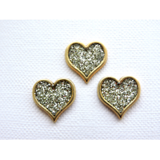 Heart Shaped Glitter Buttons - with BOGOF Offer!