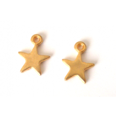 "Solid Metal ""Gold"" Star Charms."