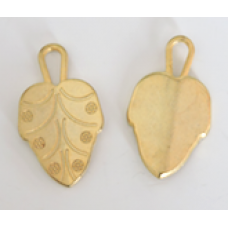 Metal Wide Leaf Charms Colour: Gold