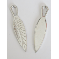 Metal Narrow Leaf Charms Colour: Silver