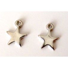 "Solid Metal ""Silver"" Star Charms."