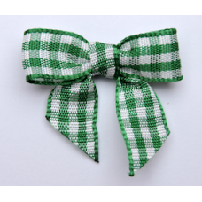 Woven Emerald Green Gingham Bow