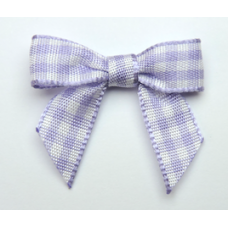 Woven Lilac Gingham Bow