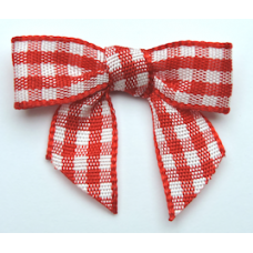 Woven Red Gingham Bow