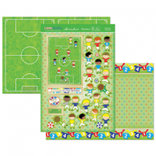 """Hunkydory """"Little Dudes"""" Card Kit, 'He Shoots, He Scores!'."""