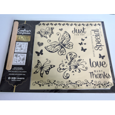Crafters Companion Foil Transfers with Free Stamps.