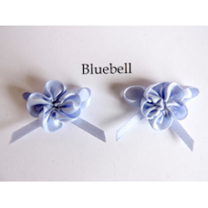 Ribbon Rosette with Bow Trim. Colour: Bluebell.