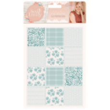 Sara Signature Collection Sew Lovely - 5x7 Embossing Folder - Pretty Patchwork