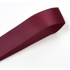 10mm Double Faced Satin Ribbon Colour: Burgundy