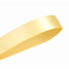 10mm Double Faced Satin Ribbon Colour: Buttercup
