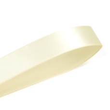 38mm Single Faced Satin Ribbon Colour: Buttermilk