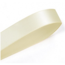 25mm  Double Sided Satin Ribbon Colour: Cream