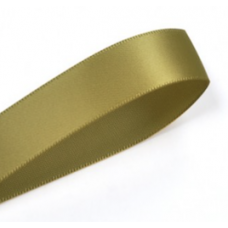 38mm Double Faced Satin Ribbon Colour: Golden Olive