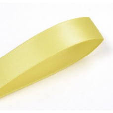 38mm Single Faced Satin Ribbon Colour: Lemon.