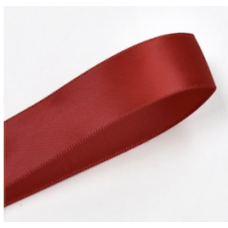 38mm Double Faced Satin Ribbon Colour: Scarlet
