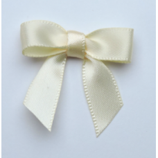 10mm Cream Satin Bow