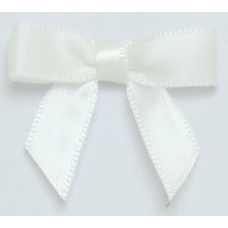 10mm White Satin Bow