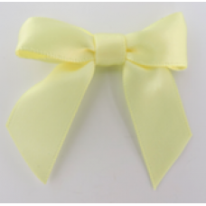 16mm Double Faced Satin Ribbon Bow Colour: Lemon