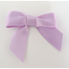 16mm Double Faced Satin Ribbon Bow Colour: Lilac