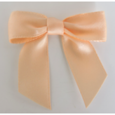 16mm Double Faced Satin Ribbon Bow Colour: Peach