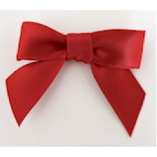 16mm Double Faced Satin Ribbon Bow Colour: Scarlet