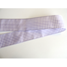 38mm Lilac Woven Gingham Ribbon