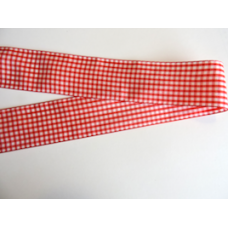 38mm Red Woven Gingham Ribbon