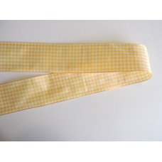 38mm Yellow Gold Woven Gingham Ribbon