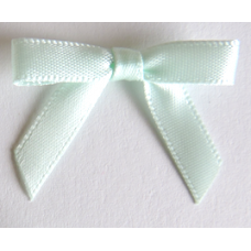 7mm Satin Bow - Colour: Mint Green