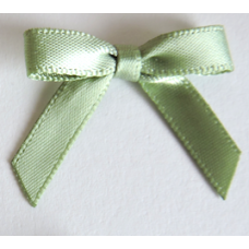 7mm Satin Bow - Colour: Sage Green