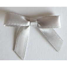 7mm Satin Bow - Colour: Light Silver