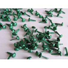 7mm Christmas Green Glitter Brad