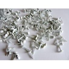 7mm White Glitter Crafting Brads
