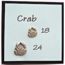 Metal Aquatic Crab Buttons With BOGOF Offer!