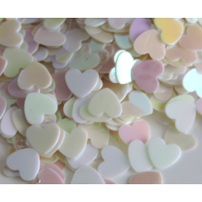 Heart Shaped Iridescent Confetti