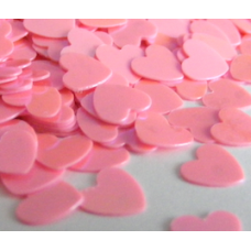 Heart Shaped Pink Confetti