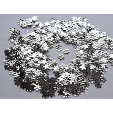 Flower Shaped Silver Confetti