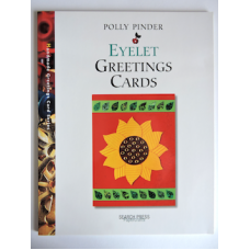 """""""Eyelet Greetings Cards"""" Soft Back Book by Polly Pinder."""