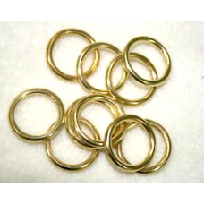 16mm Brass Plated Rings x 48.