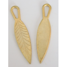 Metal Narrow Leaf Charms Colour: Gold.