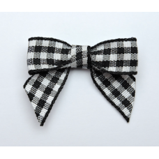 Woven Black Gingham Bow