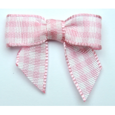 Woven Pink Gingham Bow